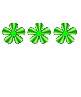 three green flowers shirt