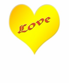 love yellow heart shirt