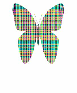 plaid butterfly shirt