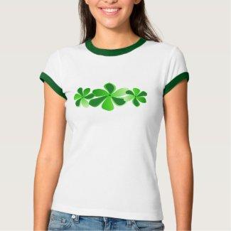 green flowers shirt