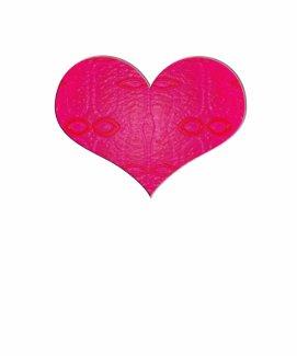 pink glow heart shirt