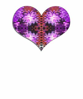 purple red heart shirt