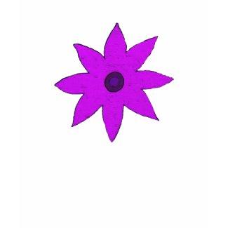 Purple flower shirt