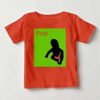 iPoop baby onesie shirt