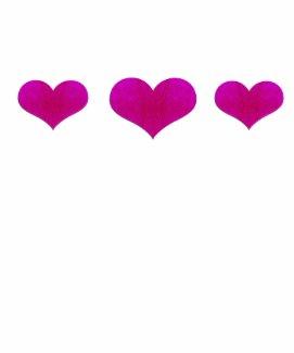 pink metal hearts shirt