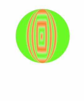 green and orange circle shirt