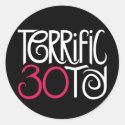 Terrific at 30 Black Sticker