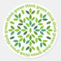 Think Green Stickers sticker