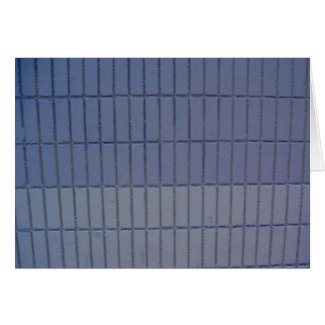 blue wall card