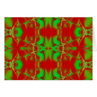 bright green red card