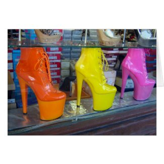 Hollywood Blvd Shoes card
