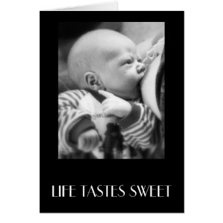 LIFE TASTES SWEET card
