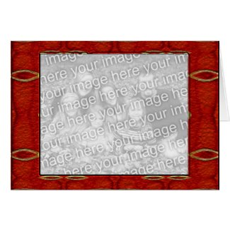 Ancient Red Abstract Photo Frame card