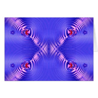 Blue Ripples card