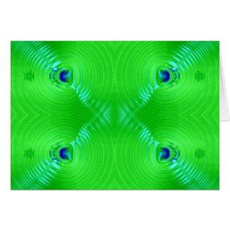 Green Ripple card