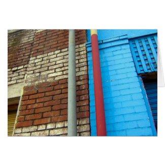 bricks & pipes greeting card