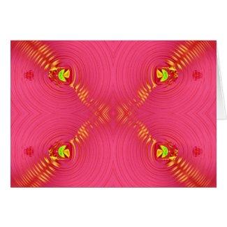 pink ripple card