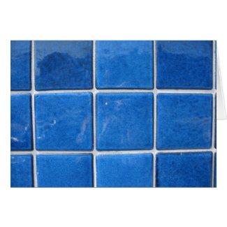 squares blue card