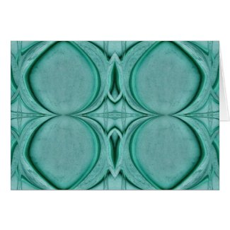 almost circle turquoise card