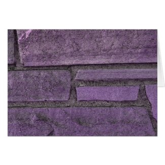 purple stones card