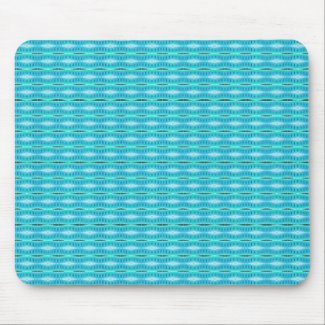 Turquoise pattern mousepad