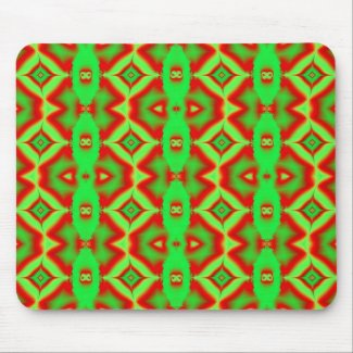 wild red green mousepad