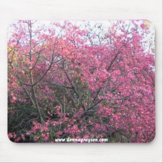 pink trees mousepad