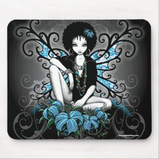 China Retro Afro Lilly Gothic Fairy mousepad