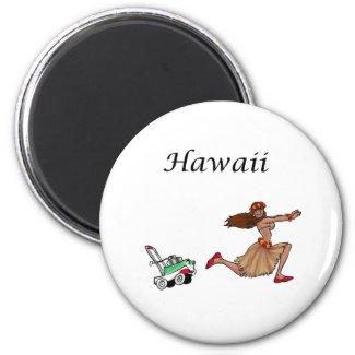 Hula Girl 2 Magnet magnet