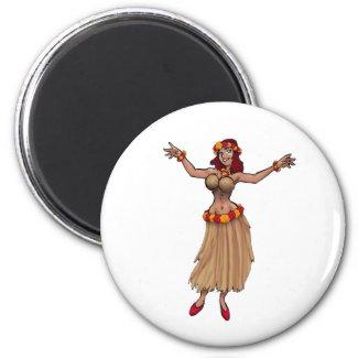 Hula Girl Magnet magnet