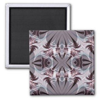 Grey Fractal Magnet