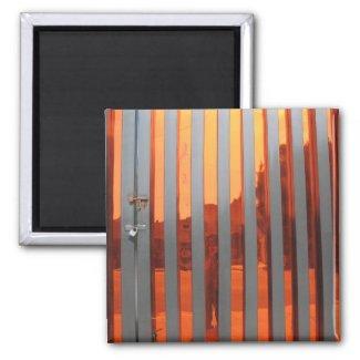 self portrait in orange magnet