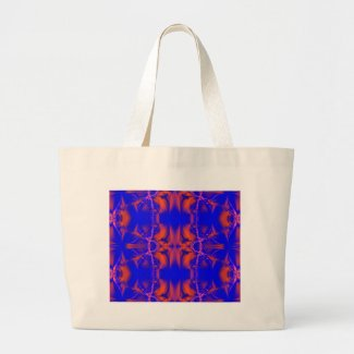 bright blue red bag