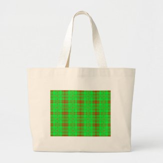 red green holiday bag