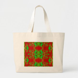 bright green red bag