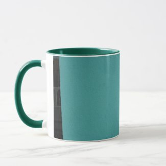 City Turquoise mug