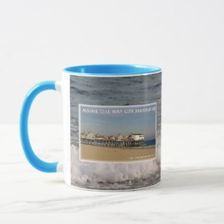 Old Orchard Beach Pier Maine mug