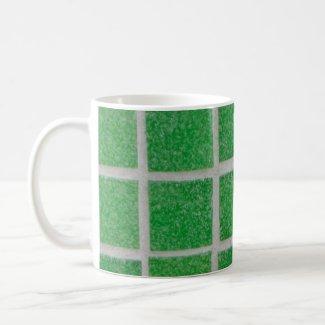 green tiles mug