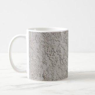 gray and green mug