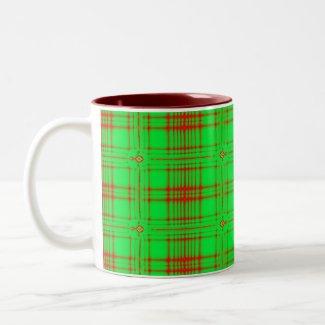 red green holiday mug