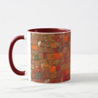 Red Tile Coffee Mug