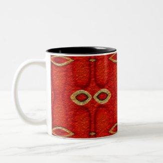 red texture mug