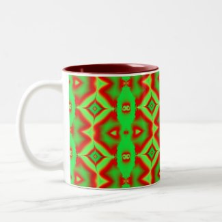 wild red green mug