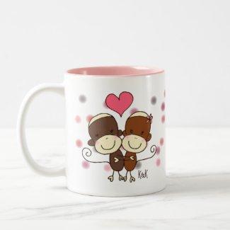 Sock Monkey Hugz Mug