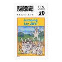 Jumping for Joy Rabbits Custom Postage Stamp
