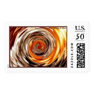 coppermetalwave, Coppermetalwave by Wendy C. Allen stamp