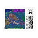 Happy Bird by Wendy C. Allen stamp