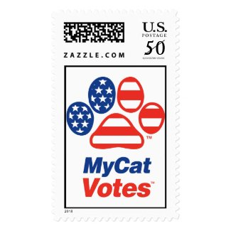 My Cat Votes USA Stamp