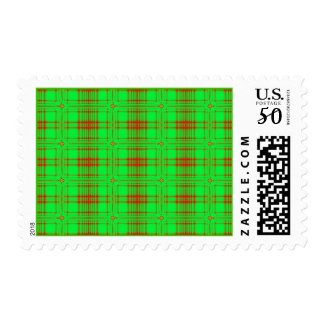 red green holiday stamp