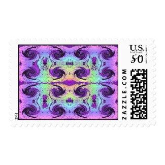 pastel swirls postage